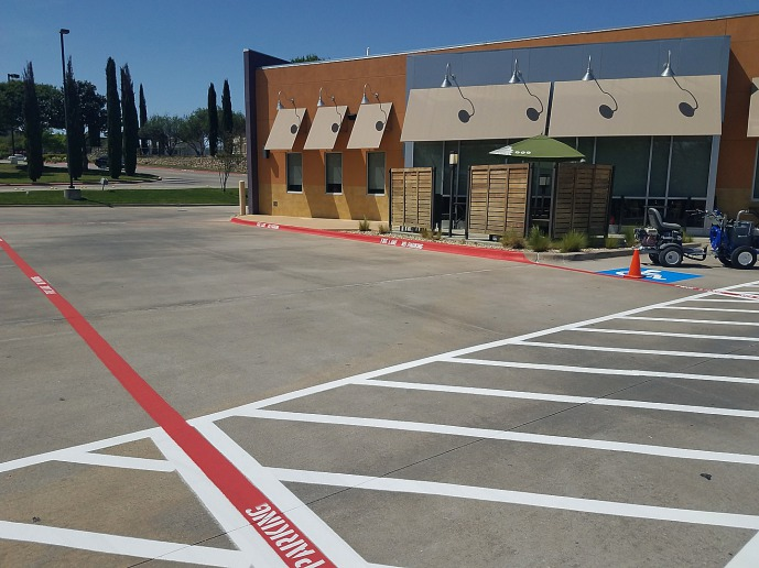 Commercial equipment services dallas tx diy aquaponics for Parking lot painting equipment
